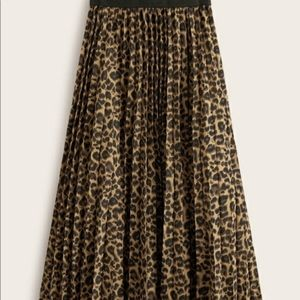 Rachel Zoe leopard pleated skirt NWT